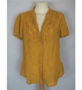M&S Size 14 Mustard Yellow Blouse