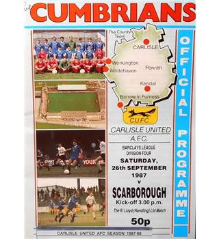 Carlisle United v Scarborough - Division 4 - 26th September 1987