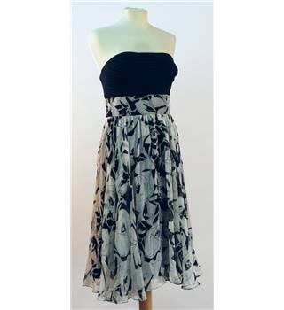 ICE size 12 black and white silk dress ICE - Size: 12 - Black