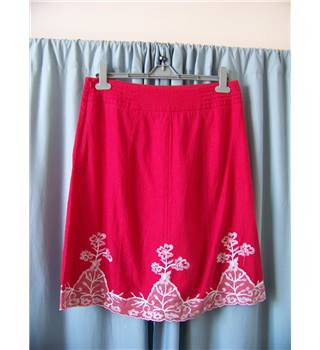 Next - Size: 12 - Red - Knee length skirt
