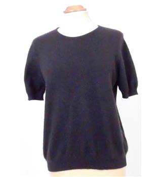 M&S St Michael Size 14 Black Cashmere Jumper