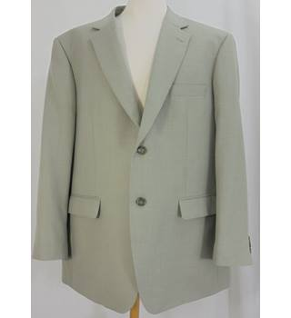 Brook Taverner - Size: C46W38 Short - Light Green - Single breasted suit