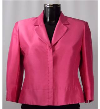 Precis Petite Silk Jacket - Shocking Pink - Size 10 Precis Petite - Size: 10 - Pink - Smart jacket / coat