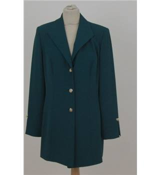 Frank Usher for Harrods - Size: 16 - Green jacket with gilt buttons