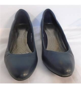 M&S Marks & Spencer - Size: 5.5 - Blue - Heeled shoes