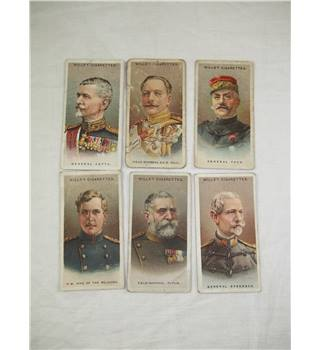 Will's Cigarette cards: Allied Army Leaders no's 1, 4, 18, 36, 37, 50