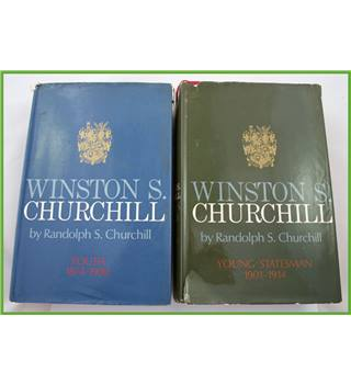 Two volumes. Winston Churchill.  1874 to 1914