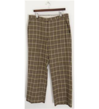 "Paul Smith Size: 36"" Brown Chequered Trousers"