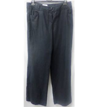 Monsoon - Size: 14 - Black - Linen trousers