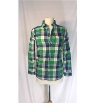 Marks & Spencer green check shirt Age 12-13