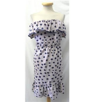 BNWT ASOS - Size: 18 - mauve with dark blue dots - strapless dress