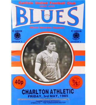 Carlisle United v Charlton Athletic - Division 2 - 3rd May 1985