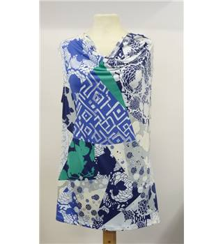 Per Una for M&S Size 12 blue and white top Per Una - Size: 12 -