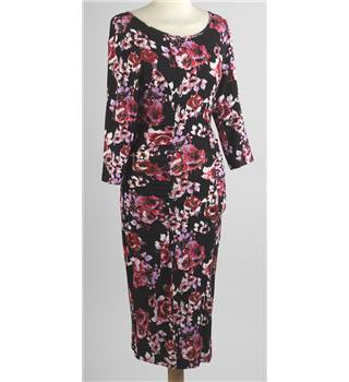 New no tag F&F size 6 black with pink flowers dress. F&F - Size: 6 - Black