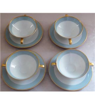 Four Heutschenreuther sleb bowls and saucers