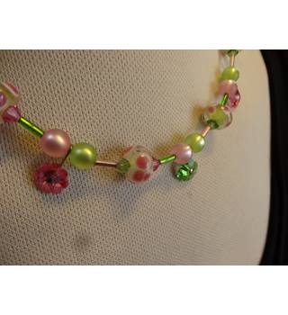 Coeur De Lion Green and Pink Necklace - 46cm