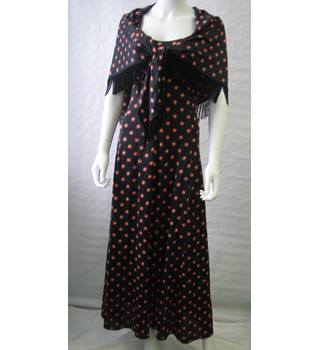 Vintage Polly Peck Dress with matching shawl by Sybil Zelker size 8/10