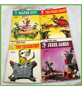 "Four  ""Lucky Luke""  titles"