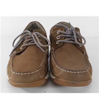 M&S Size 6.5 Brown Leather Casual Shoes