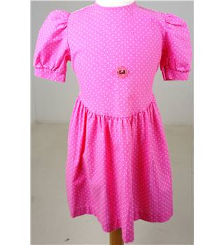 Ladybird Pink Spot Short Sleeved Dress Size Age 4 - 5 years