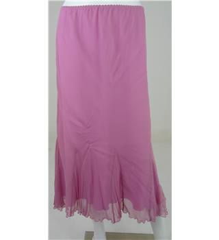 BNWT GINA BACCONI Fuchsia Pink Calf-Length Skirt UK Size 16