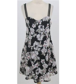 Pins and Needles: Size S: Black mix floral skater dress
