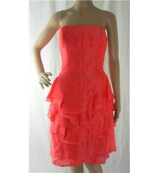 Reiss Strapless Cocktail Dress  - Size: 8 - Coral