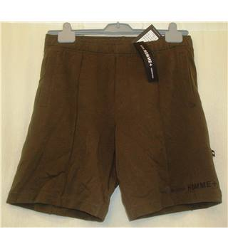 BNWT Selected hommes Size Medium Olive green stretch jersey shorts