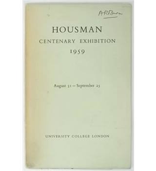 Housman Centenary Exhibition 1959