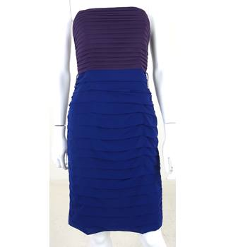 Coast Size 8 Eggplant Purple and Royal Blue Midi Pencil Dress