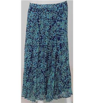 Per Una Blue and Turquoise Calf-Length Skirt