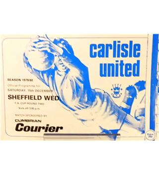 Carlisle United v Sheffield Wednesday - FA Cup 2nd Round - 15th December 1979