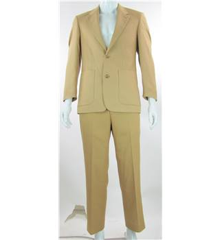 Wellington - Size: 38 S - Beige - Single breasted suit