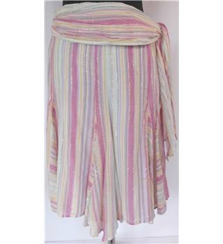 French Connection size: 10 pastel pink and cream striped skirt