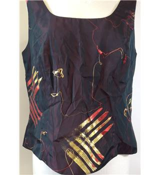 Canda - Maroon vest top - Size 14