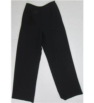 Laura Ashley  Size: 10 Black silk blend  Trousers