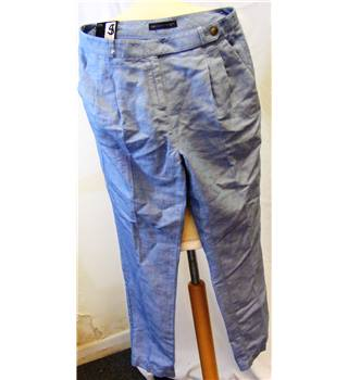 M&S Marks & Spencer Collection - Size: 12 medium blue mix trousers