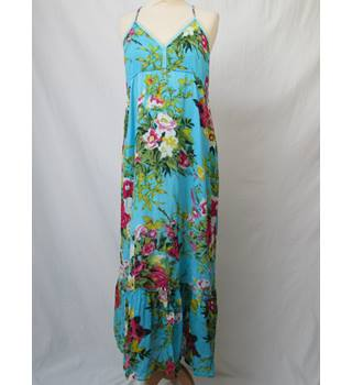 I & D Colors - Size: M/L - Blue Floral print - Long Summer dress