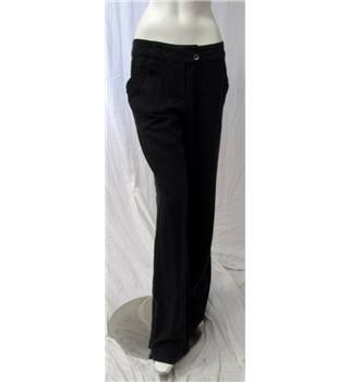"Long Tall Sally Linen Trousers Size 112 Long Tall Sally - Size: 29"" - Grey"