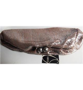 BNWT Oasis Metallic Silver Clutch Bag