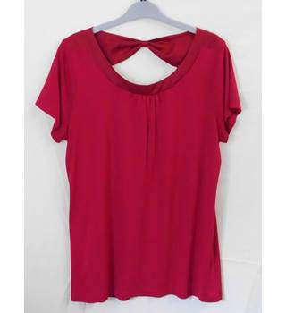 Laura Ashley - Size: 14 Deep  Pink - short sleeved top.