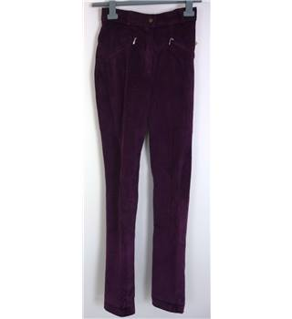 "BNWT Harry Hall Size: 10, Dark Purple Casual/Equestrian ""Montana"" Stretch Corduroy Jodhpurs"