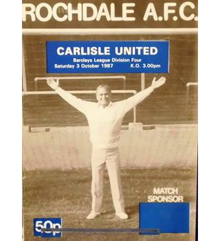 Rochdale v Carlisle United - Division 4 - 3rd October 1987