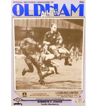 Oldham Athletic v Carlisle United - League Cup 2nd Round 2nd Leg - 6th October 1987
