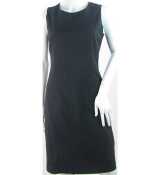 BNWT The Department - Size: 8 - Black - Knee-Length - Pinstripe Shift Dress