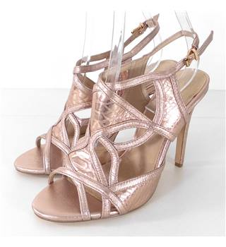 Moda In Pelle Size 6/39 Pale Gold Stiletto Sandals.