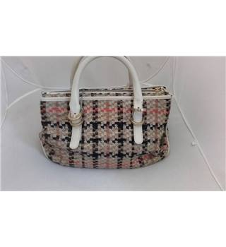 Daks of London cream mix tweed wool effect handbag