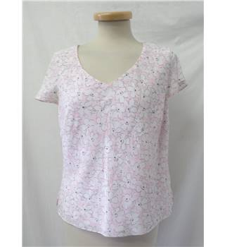Viyella Petite - Size: 10 - blush pink with white floral top