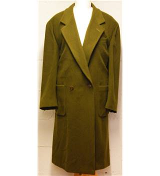 Louis Feraud - Size: L - Olive Green Coat