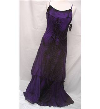 BNWT Jordash Free Size 10-16 Purple and Black Party Dress
